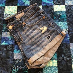 Aeropostale Midi Distressed Cuffed Shorts